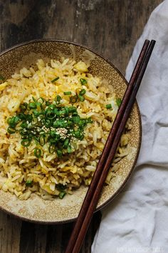 Dad's simple, easy and quick egg fried rice recipe that's fluffy and coats each grain of rice with egg for maximum deliciousness.