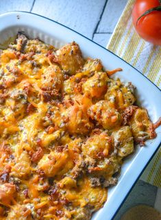 A quick & easy dinner idea, this Bacon Cheeseburger Tater Tot Casserole is a family favorite meal that's full of flavors everyone will love, even your pickiest of eaters. Cheeseburgers, especially bacon cheeseburgers, are literally our most favorite thing to order out, whether we're grabbing fast food or taking the time[Read more]