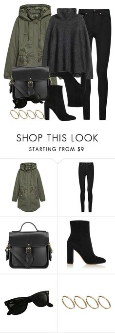 """""""Style #11614"""" by vany-alvarado ❤ liked on Polyvore featuring H&M, Yves Saint Laurent, The Cambridge Satchel Company, Gianvito Rossi, Ray-Ban and ASOS"""