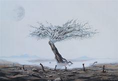 #tertius_van_dyk_art #art #artist #surreal #surrealism #surrealist #surrealistart #modernart #arttrends #trends #painting #painters #oilpainting #canvas #iloveart #southafricanartists #southafrica #hermanus #overberg #southafricanart #artsouthafrica #dali #frieda #salvadordali #moon #