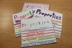 Algebra 1A/B with Mr. Jenkins: Property Foldable Directions & Pictures