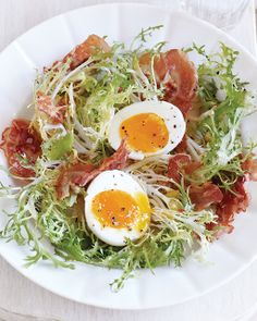 Bistro Salad with Crispy Pancetta Recipe from Sweet Paul Magazine