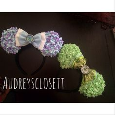 Mike and sully ear set audreysclosett Mike And Sully Costume, Mickey Ears, Costumes, Band, Disney, Accessories, Sash, Dress Up Clothes, Fancy Dress