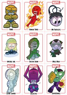 Chibi - Fantastic Four by Juggertha.deviantart.com on @deviantART