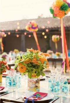 Mexican+Wedding+Centerpieces | ... , Lanterns, and Poms?? - Elizabeth Anne Designs: The Wedding Blog