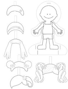 Paper Doll Template to Print and Color