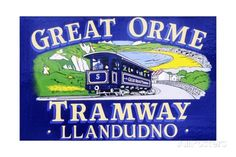 Poster Advertising the Great Orme Tramway Giclee Print by Welsh School - AllPosters.co.uk