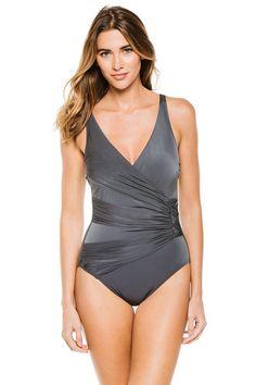 7d759da5f54f2 Gottex Dream Weaver One Piece Surplice Swimsuit - ForEnvy.com One Piece  Swimsuit, Monokini