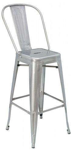 Metal barstool, Stackable, Metal back and seat, Powder coated frame finish, Rubber glides, Ships semi assembled, Manufacturer's 1 Year Limited Warranty Against Defects Under Normal Use