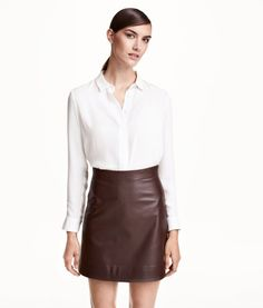 Leather Skirt | Product Detail | H&M