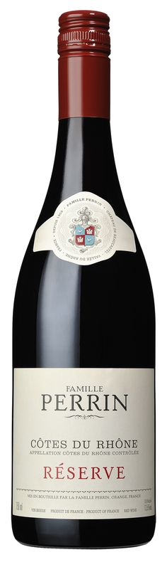 "Wine Spectator Wine of the Day - Famille #Perrin Côtes du Rhône Réserve 2010 ""A light-bodied, floral style, offering violet, high-toned cherry and damson plum notes that carry through the sandalwood-framed finish. Drink now."""