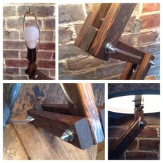 Urban Style Wood Desk / Table Lamp by AWalkThroughTheWoods on Etsy