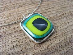 Fused Glass Pendant (071704) | GroovyGlassGirl | Flickr