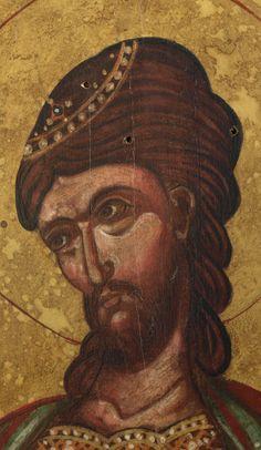 """Byzantine icon of """"Saint Nikitas"""" Greek Icons, Byzantine Icons, Orthodox Icons, Ottoman Empire, Christen, Great Love, Kirchen, Roman, Saints"""