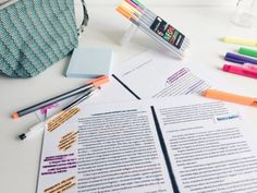 If you want to have good grades organize your work space