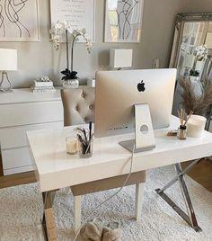 Cozy Home Office, Home Office Space, Home Office Design, Home Office Decor, Office Interiors, Cozy House, Home Decor Inspiration, Sweet Home, Room Decor