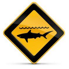 Panneau attention danger risques attaques de requins