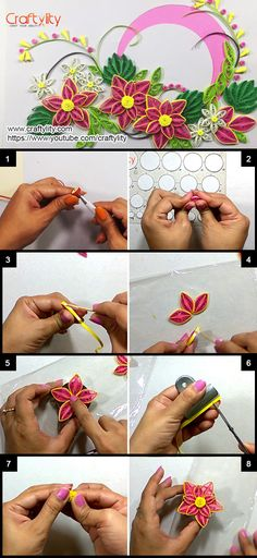 Free tutorial how to make a paper quilled rose featured in sova how to make paper quilling pink flower card craftylity mightylinksfo