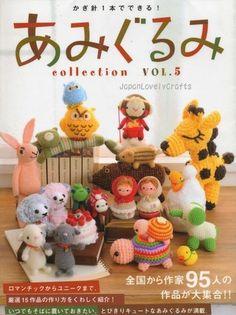 Amigurumi Collection Vol.5 - Japanese Crochet Pattern Book - Lovely & Kawaii Design - JapanLovelyCrafts
