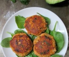 Easy allergy-friendly salmon (or crab) cakes topped with a cilantro lime avocado remoulade