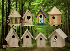 leuke en vrolijke vogelhuisjes