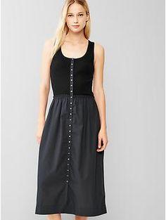 Mix-media tank dress : love those wedges too!