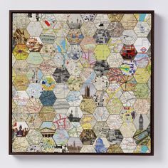 Wish I had th patience to do something like this.  This is a patchwork of pics/maps of London.