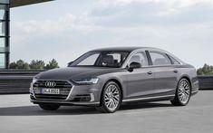 Download wallpapers Audi S8, 2018 cars, luxury cars, gray s8, german cars, Audi