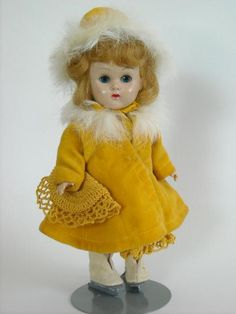 Vogue Ginny Walker Doll- Original Fur Coat, Hat, & Skates