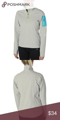 6d103f7e4a NWT Microlith Softshell Pullover Sporty Top Large The lightweight softshell  fends off a slight chill while