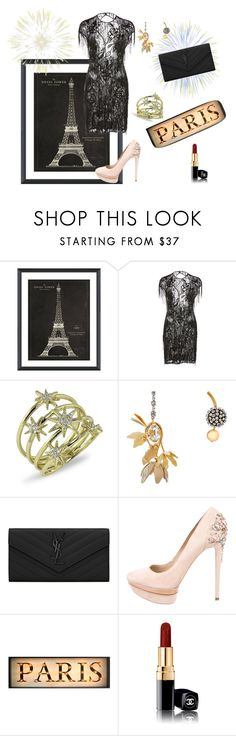 """""""Bastille Day"""" by marie-de ❤ liked on Polyvore featuring Vintage Print Gallery, Zuhair Murad, Marni, Yves Saint Laurent, B Brian Atwood and Chanel"""