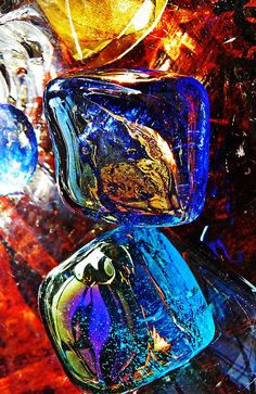 Glass Abstract 685 Photograph by Sarah Loft