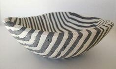Concrete Zebra bowl by Deborah Brackenbury. http://www.makersgallery.com/concrete/gg-brackenbury.html