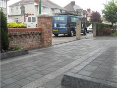 Marshalls Argent Block paving Driveway Liverpool --> MossLandscapes.co.uk
