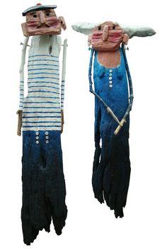 Driftwood sculptures by Anna Foucher.