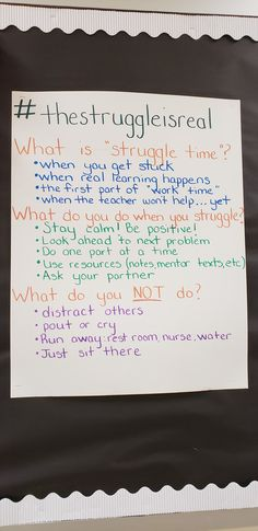 Classroom community - The struggle is real Classroom Behavior, Classroom Posters, School Classroom, Classroom Ideas, Classroom Mailboxes, Growth Mindset Classroom, Growth Mindset Quotes, Classroom Expectations, Teaching Strategies