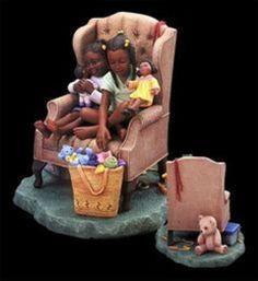 "Brenda Joysmith's Our Song ""Doll play"" Figurine NIB African American Figurines, African American Artist, Black Figurines, Black Artwork, Black Women Art, Female Art, Creative Art, Amazing Art, Barbie"