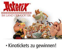 """Gewinne im Weltbild Wettbewerb 5 x 2 Kinotickets für den neuen Asterix Film """"Im Land der Götter""""!  Beantworte dafür die Wettbewerbsfrage und gewinne gratis Kinotickets.  Gewinne hier: http://www.gratis-schweiz.ch/asterix-gewinnspiel/"""