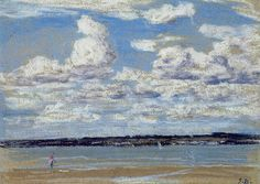 An Estuary in Brittany by Eugène Louis Boudin (1824-1898, France)