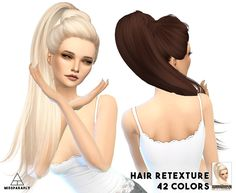 Hair retexture / Skysims Jem / 42 colors