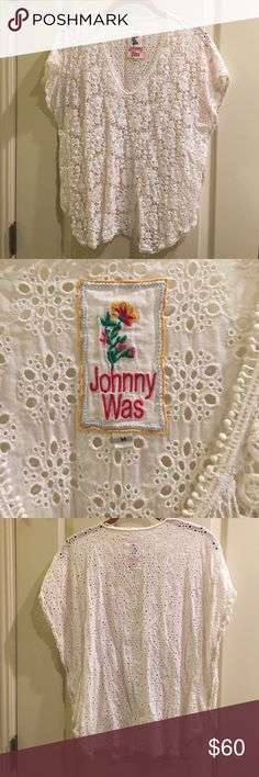 Johnny Was Collection top size medium Johnny Was Collection top size medium. Worn once. Perfect condition. No holds or trades. ❤️❤️❤️ Johnny Was Tops Blouses