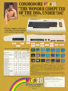 In 1981 Commodore released there second home computer, the Vic-20, which despite being somewhat underpowered went on to become the first home computer to sell over a million units