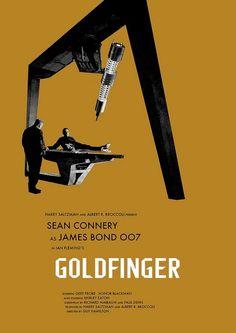 """""""Goldfinger"""" (dir. Guy Hamilton, 1965) :  L'agent secret 007 est chargé d'enquéter sur les revenus d'Auric Goldfinger. La banque d'Angleterre a découvert qu'il entreposait d'énormes quantités d'or, mais s'inquiète de ne pas savoir dans quel but. Quelques verres, parties de golf, poursuites et autres aventures galantes plus loin, James Bond découvre en réalité les préparatifs du """"crime du siècle"""", dont les retombées pourraient amener le chaos économique sur les pays développés du bloc…"""