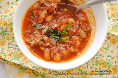 Tuscan Tomato Stew with Cannelli Beans and Italian Sausage