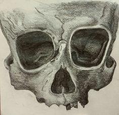 Skull sketch. #sketch #art #artist #sketch #draw #skull #skeleton #death #dark