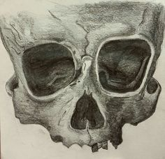 Skull sketch. #sketch #art #artist #sketch #draw #skull #skeleton #death #dark