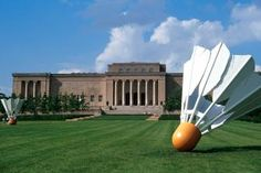 The Nelson-Atkins Museum of Art in Kansas City packs in more than 34,000 works of art in (and out) of it's walls, including this badminton sculpture. See other things you can do on a budget in KC w/ Midwest Living.