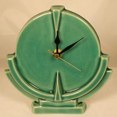 Echo of Deco Scientist Mantle Clock from Just Art Pottery Old Clocks, Antique Clocks, Vintage Clocks, Alarm Clocks, Vintage Art, Art Nouveau, Art Deco Furniture, Plywood Furniture, Furniture Design