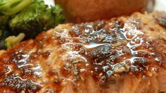 A glaze featuring balsamic vinegar, garlic, honey, white wine and Dijon mustard makes baked salmon fillets extraordinary.