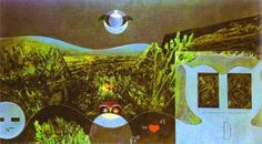 Max Ernst, Phases of the Night (allusion to Euler's identity)
